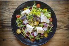 Mittags Salat Ziegenkäse